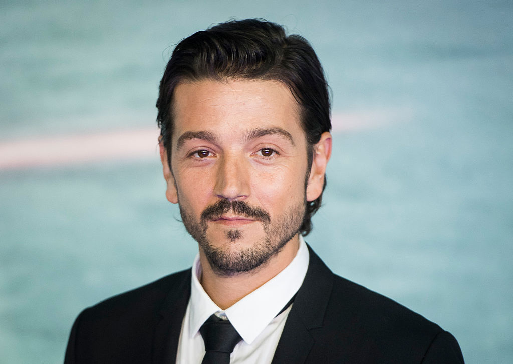 Diego Luna, who plays Cassian Andor, at the launch event for 'Rogue One: A Star Wars Story' in London, England.