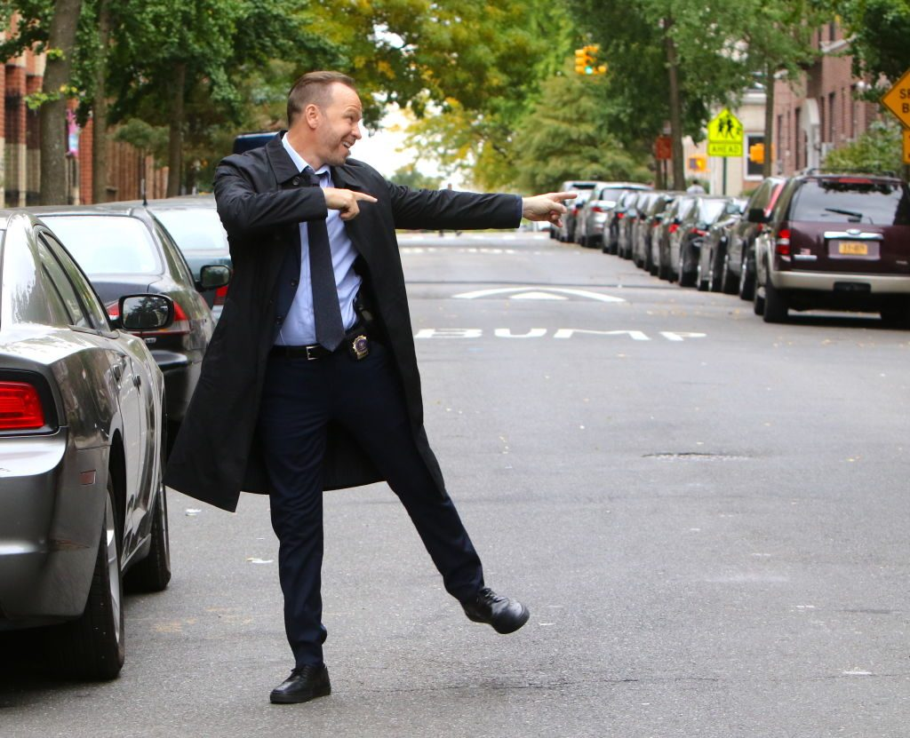 Donnie Wahlberg on Blue Bloods set