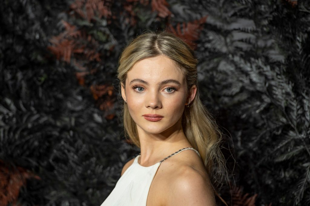 """Freya Allan attends the World Premiere of Netflix's """"The Witcher"""" at Vue West End in London."""