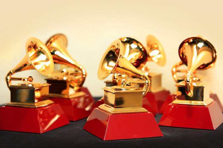Photo of Grammy award statues
