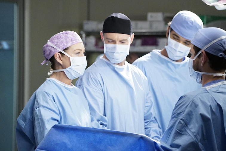 ELLEN POMPEO, RICHARD FLOOD on Grey's Anatomy
