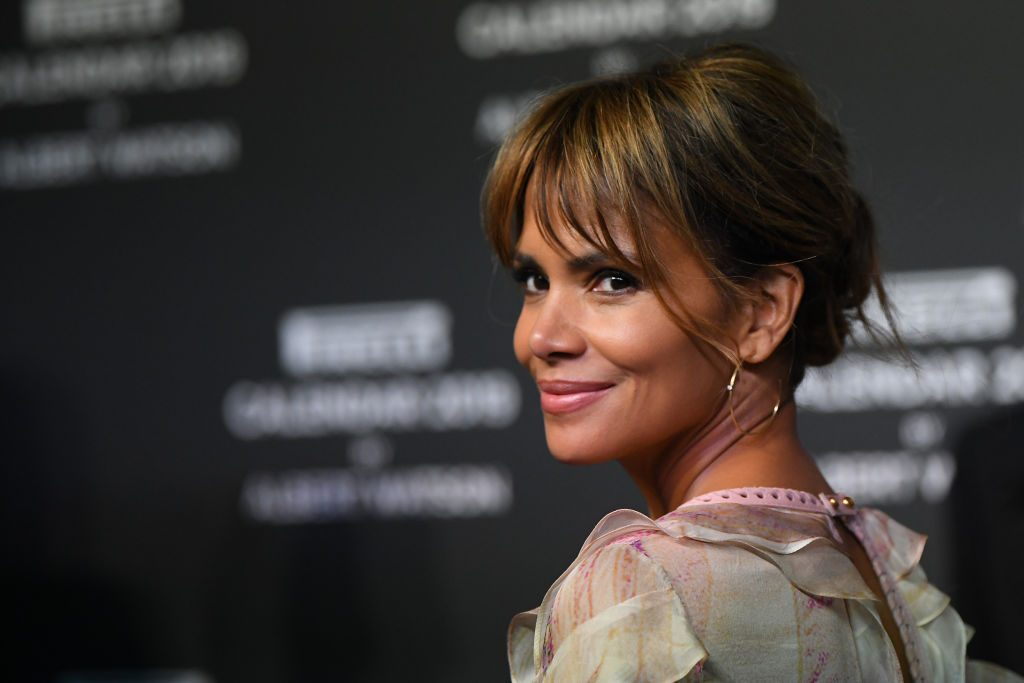 Halle Berry walks the red carpet.