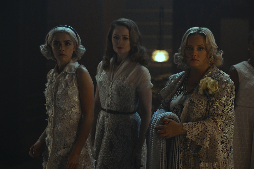 Sabrina, Zelda, and Hilda after the Hare Moon, 'CHILLING ADVENTURES OF SABRINA.'