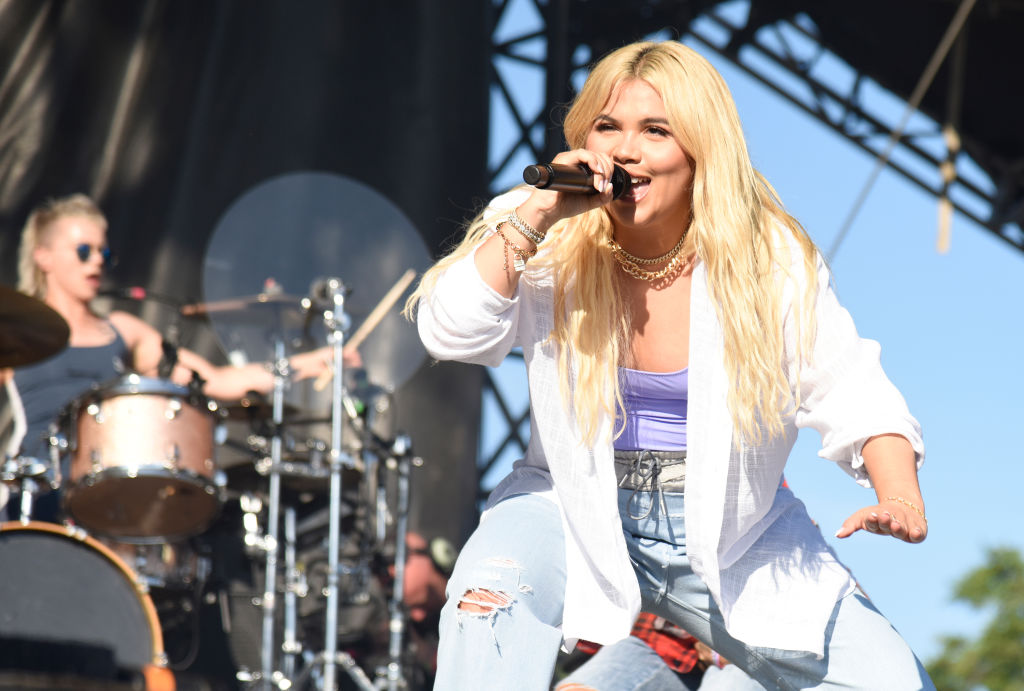 Hayley Kiyoko performs during Lollapalooza 2019 Day 1 on August 01, 2019, in Chicago.