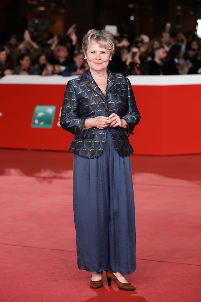 Imelda Staunton at the 'Downton Abbey' red carpet at the 14th Rome Film Festival.