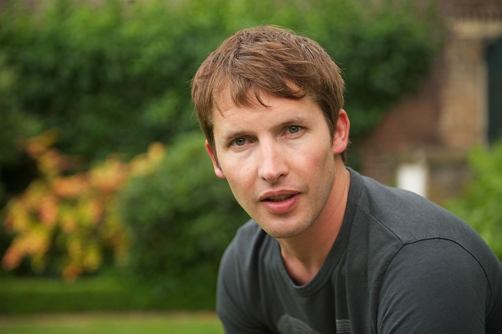 James Blunt backstage at the Hampton Court Palace Festival.