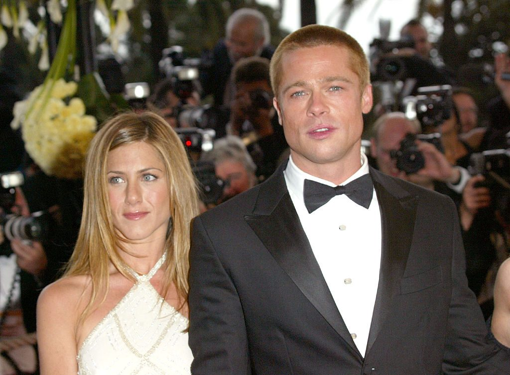 Jennifer Aniston and Brad Pitt at the 'Troy' Premiere during the 2004 Cannes Film Festival