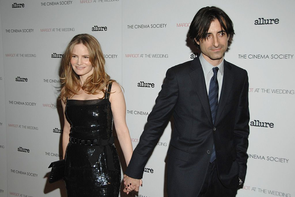 "Jason Leigh and Noah Baumbach (Director) attend a screening of ""MARGOT AT THE WEDDING"" on November 8, 2007"
