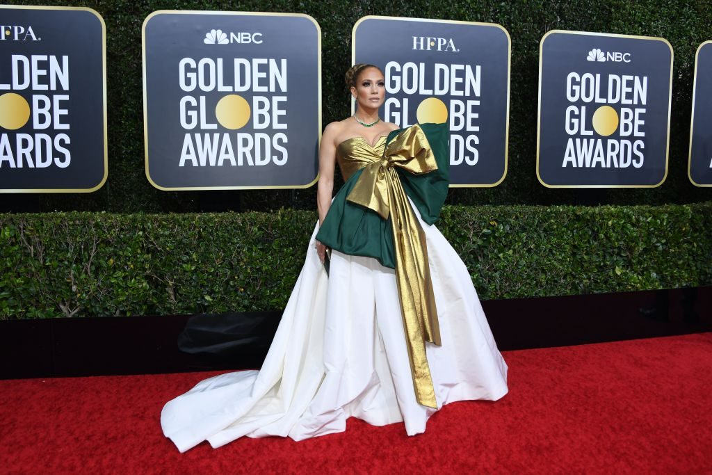 Jennifer Lopez arrives for the 77th annual Golden Globe Awards on January 5, 2020