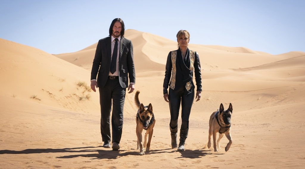 Keanu Reeves and Halle Berry in 'John Wick: Chapter 3 -- Parabellum