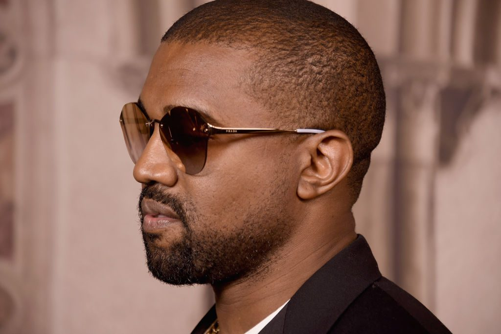 Kanye West attends the Ralph Lauren 50th Anniversary event.