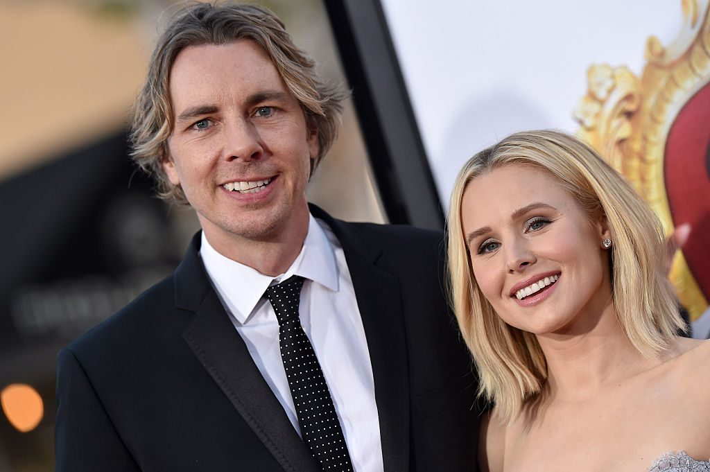 Dax Shepard and Kristen Bell arrive at the premiere of USA Pictures' 'The Boss' at Regency Village.