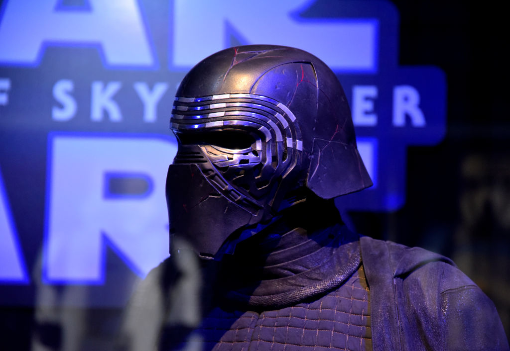 'Star Wars' costume for Kylo Ren on display at the Star Wars Marathon hosted by Nerdist at the El Capitan Theater.