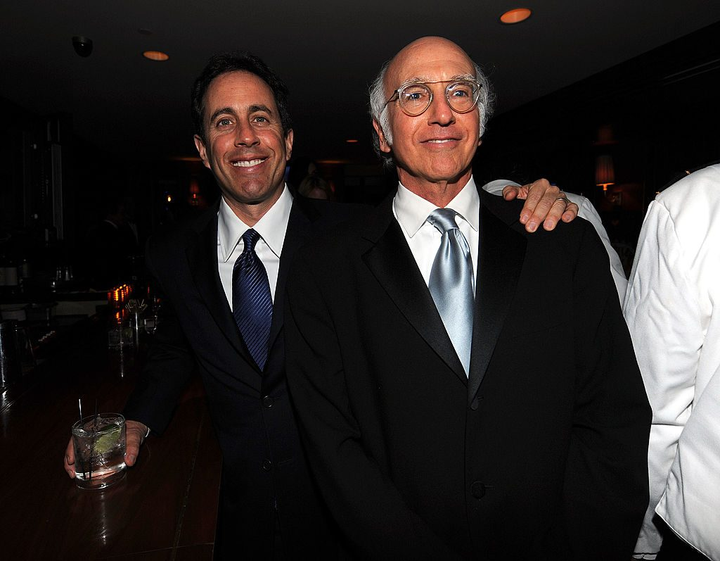 Jerry Seinfeld and Larry David of Seinfeld fame