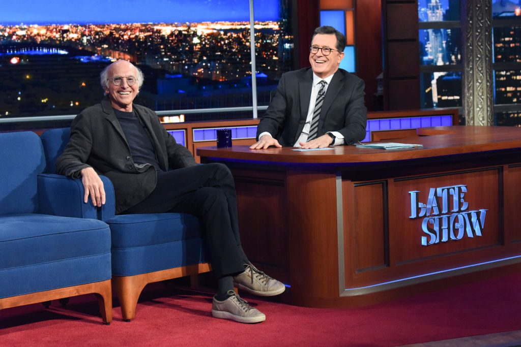 Stephen Colbert and Larry David