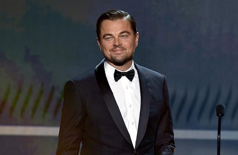 Leonardo DiCaprio speaks onstage