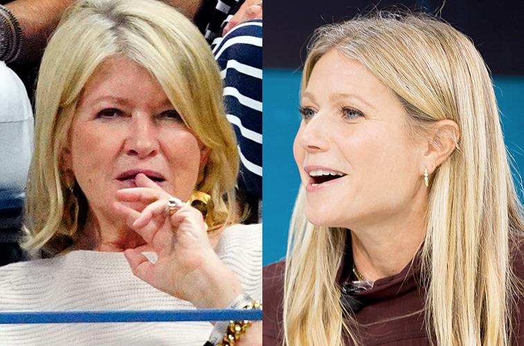 Martha Stewart and Gwyneth Paltrow