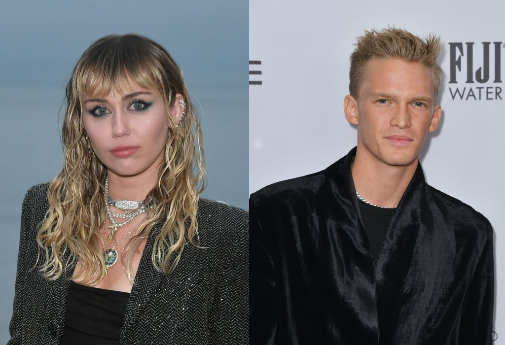 composite image of Miley Cyrus and Cody Simpson