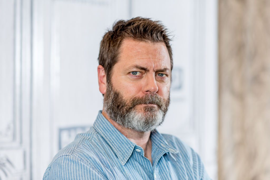 Nick Offerman in NYC.