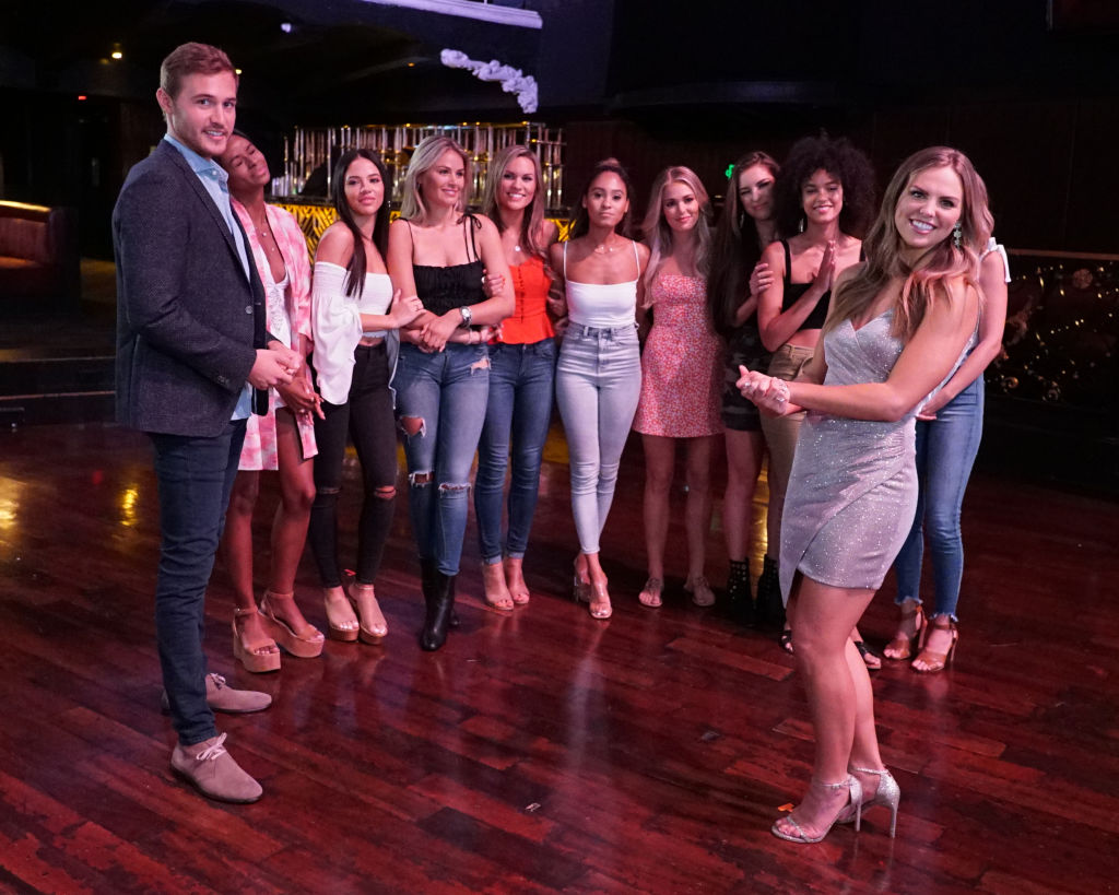 Peter Weber and some of the women from his season of 'The Bachelor,' including Hannah Brown of 'The Bachelorette.'