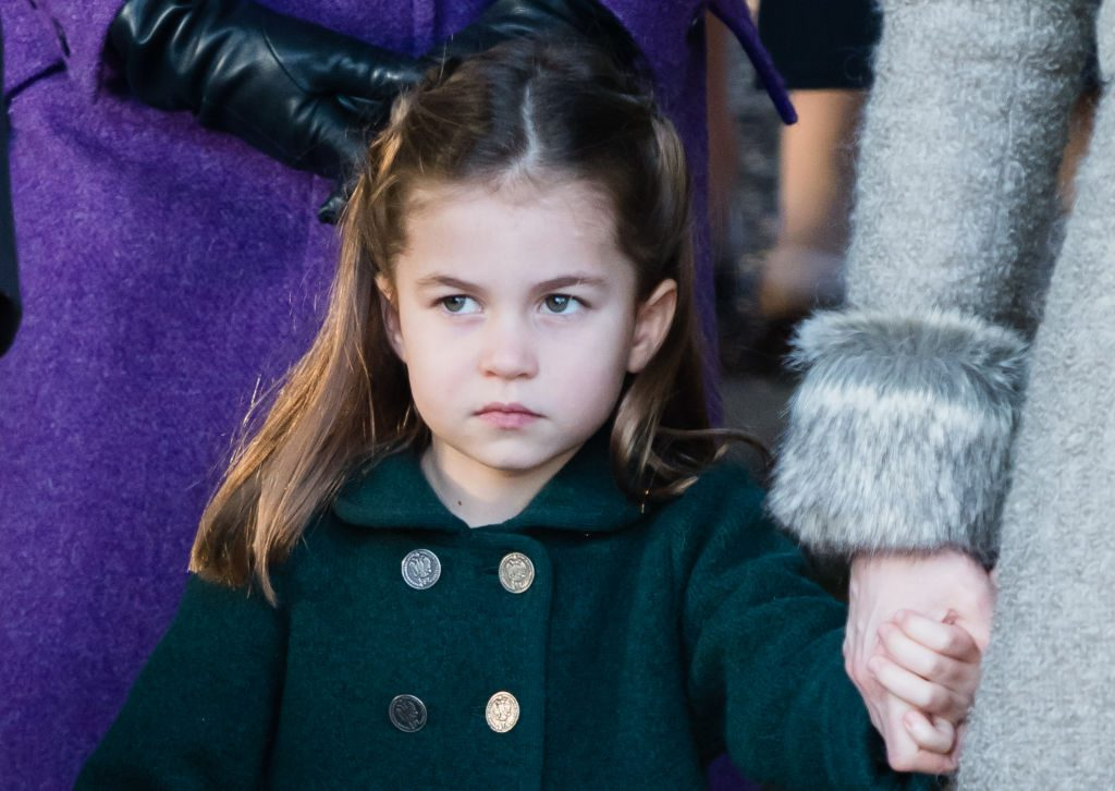 Princess Charlotte attends the Christmas Day Church service at Church of St Mary Magdalene.