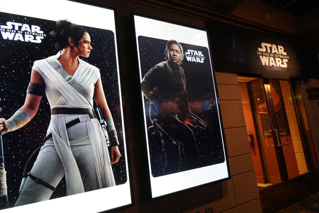 'Star Wars: The Rise Of Skywalker' posters of Rey and Rose Tico at the 'Star Wars' Marathon hosted by Nerdist.