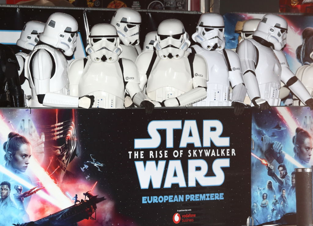 People dressed as Stormtroopers at the 'Star Wars: The Rise of Skywalker' European Premiere.