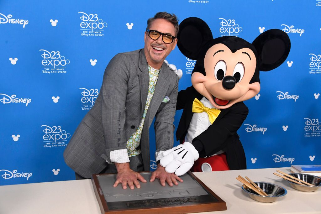 Robert Downey Jr. with Mickey Mouse