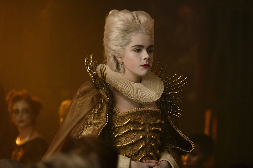 Sabrina poses as Queen of Hell in the finale for Part 3 of 'CHILLING ADVENTURES OF SABRINA.'