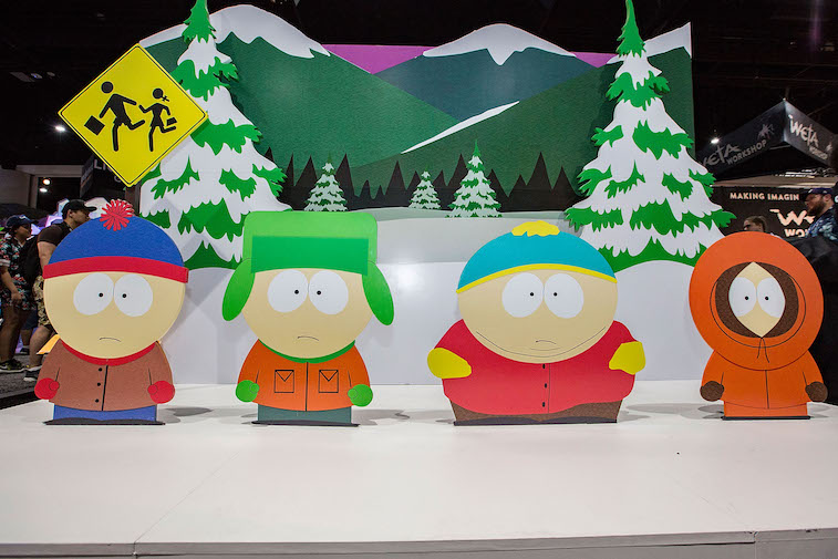 A South Park attraction at Comic-Con Internationa