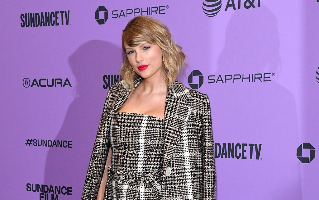 Taylor Swift attends the Netflix premiere of 'Miss Americana' at Sundance Film Festival on January 23, 2020