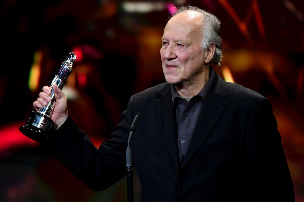 German director, producer, and actor Werner Herzog receives the EFA Lifetime Achievement Award onstage during the 32nd European Film Awards on December 7, 2019.