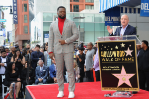 50 Cent Gets Choked Up During Walk of Fame Ceremony