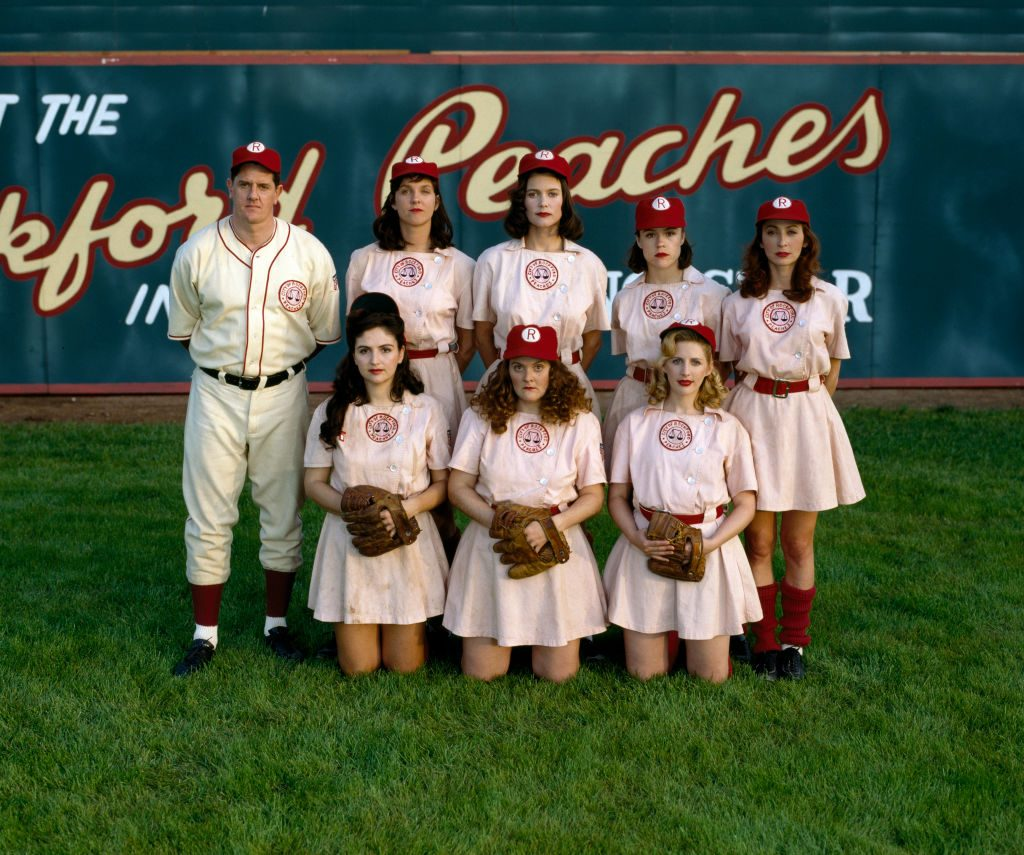The cast of 'A League of Their Own', the 1993 TV series