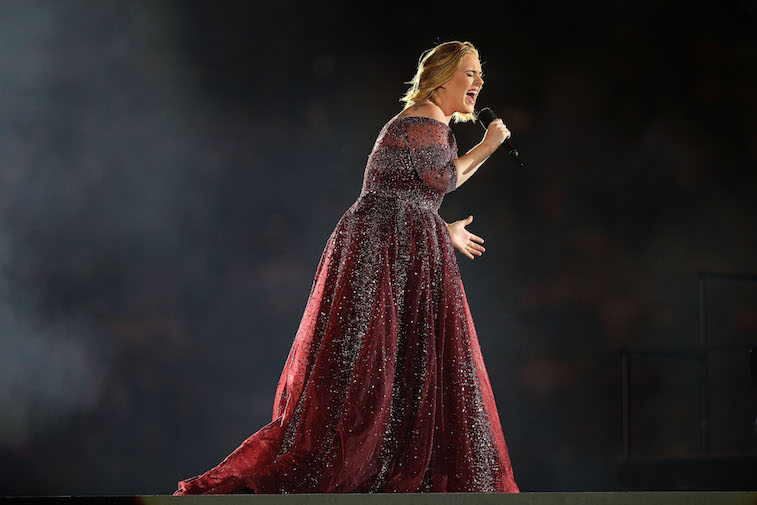 Adele performs onstage