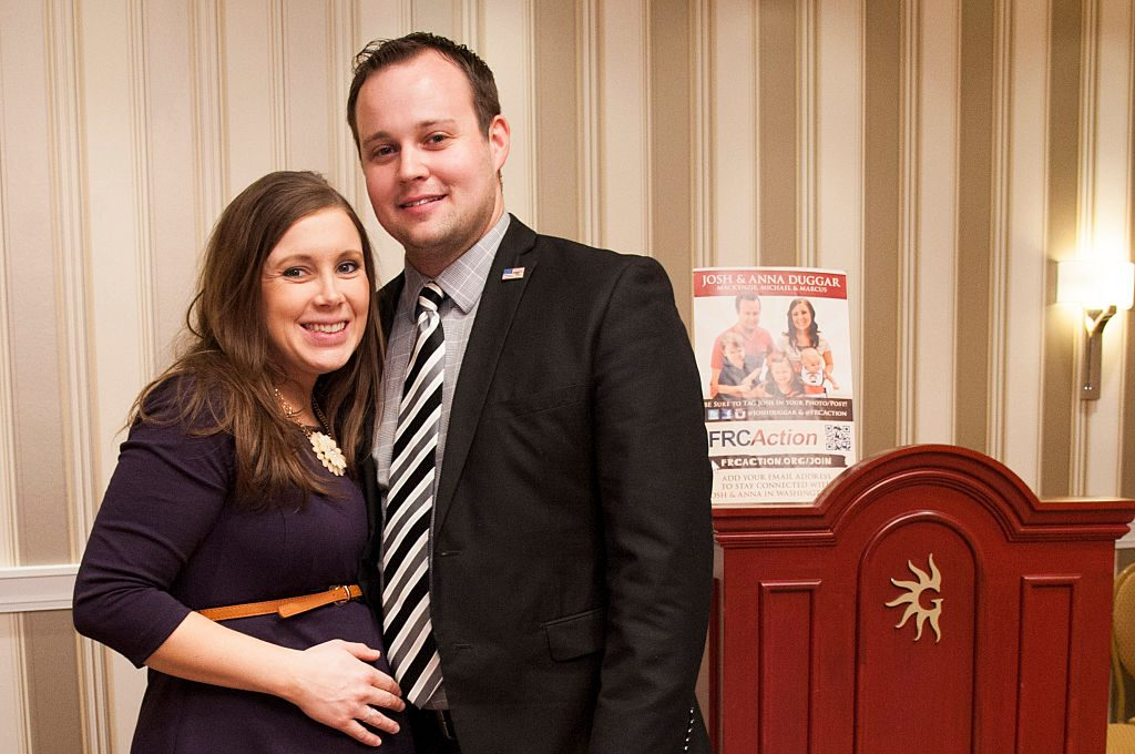 Josh and Anna Duggar pose during the 42nd annual Conservative Political Action Conference