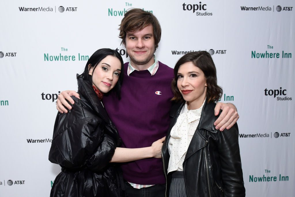 Annie Clark, Bill Benz and Carrie Brownstein
