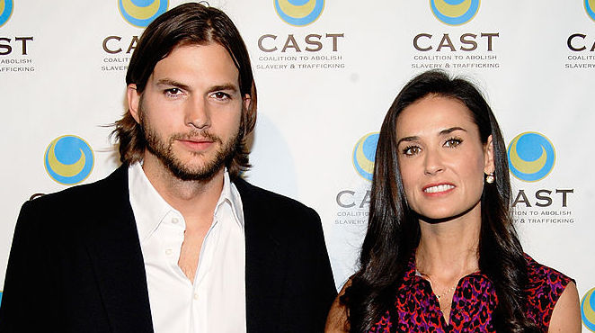 Ashton Kutcher and Demi Moore at an event in 2011