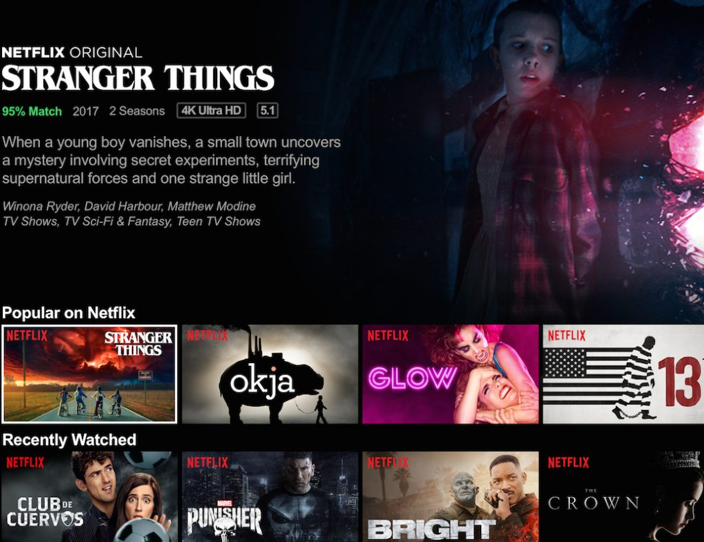 Auto-preview can be disabled on Netflix