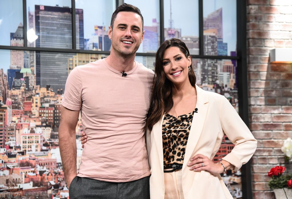 Ben Higgins and Becca Kufrin of the Bachelor visit People Now on January 28, 2020 in New York, City.
