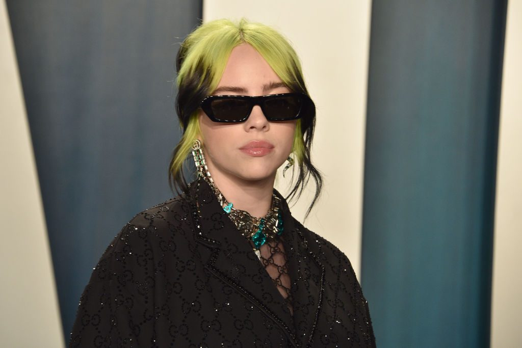 Billie Eilish attends the Oscar after party with her brother