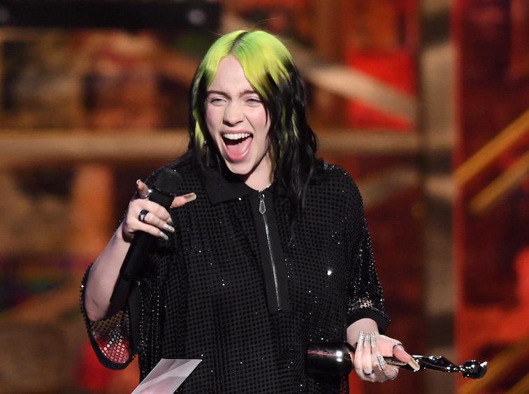 Billie Eilish onstage