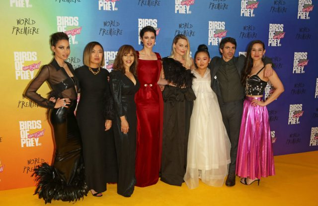 Director Cathy Yan, screenwriter Christina Hodson, and the 'Birds of Prey' cast at the world premiere