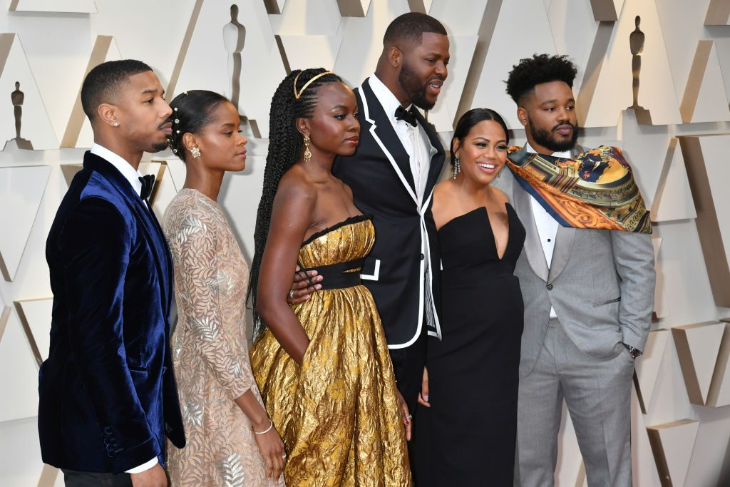 The cast of 'Black Panther' attends the 91st Annual Academy Awards