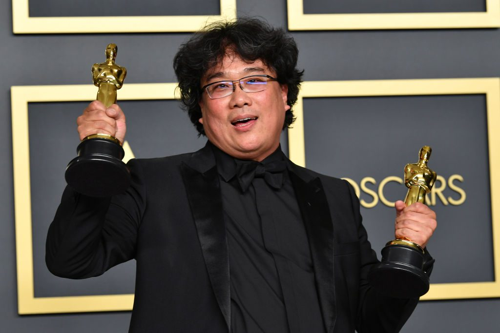 Director Bong Joon-ho, winner of the Original Screenplay, International Feature Film, Directing, and Best Picture awards for 'Parasite'