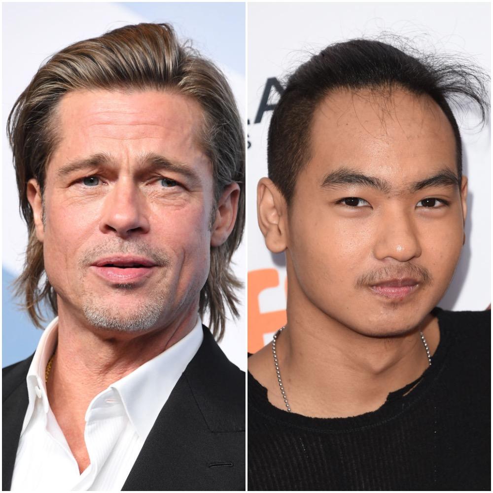Brad Pitt and Maddox Jolie-Pitt