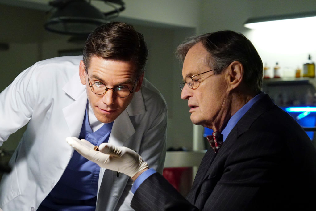 Brian Dietzen and David McCallum | Monty Brinton/CBS via Getty Images