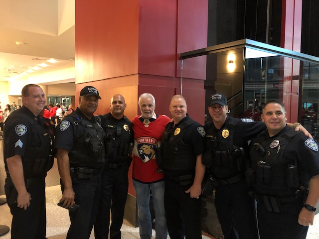 Captain Lee Rosbach and Sunrise Police Dept.