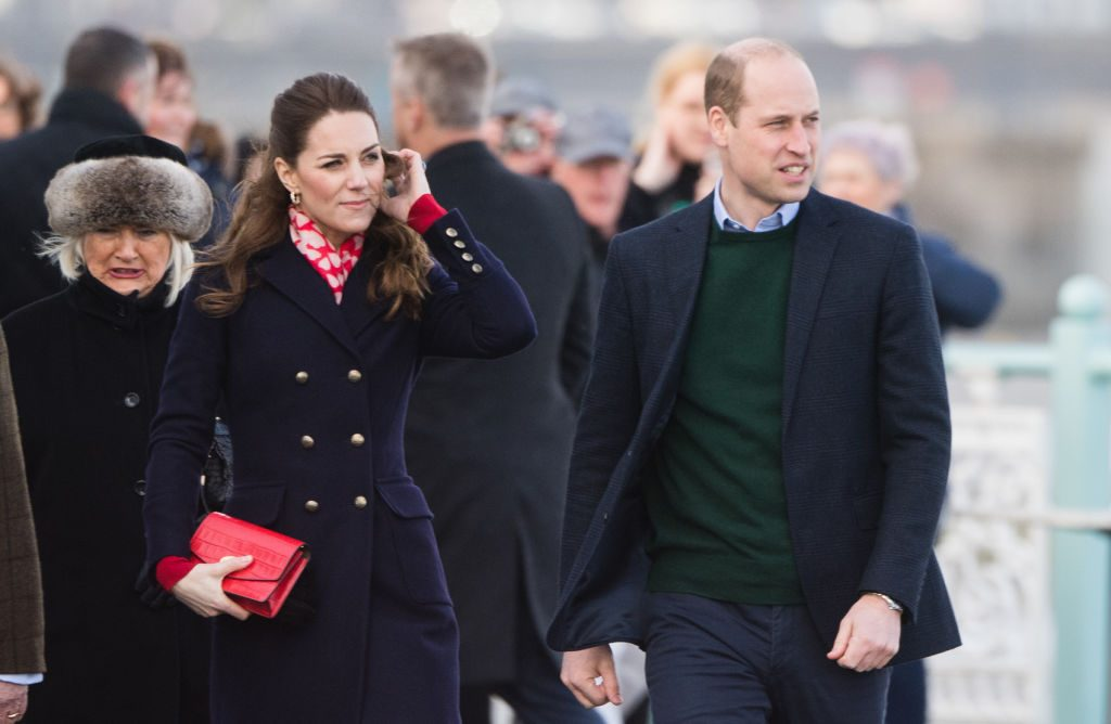 Catherine Duchess of Cambridge and Prince William visit Mumbles Pier