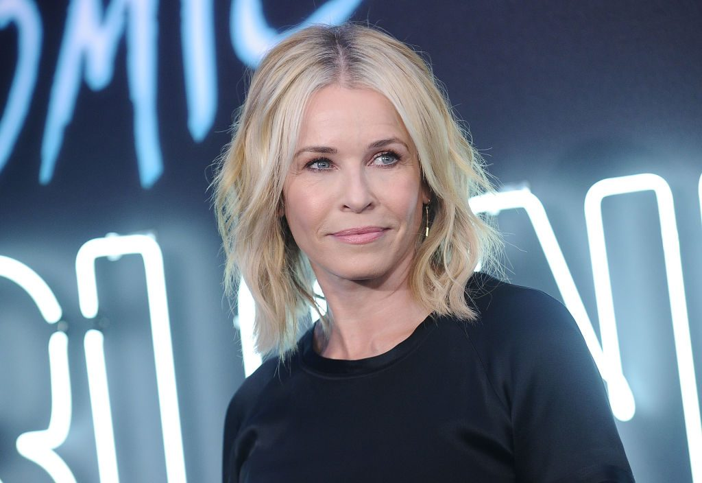 """Chelsea Handler attends the premiere of """"Atomic Blonde"""" at The Theatre at Ace Hotel."""